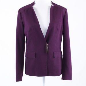 Calvin Klein plum suit blazer jacket